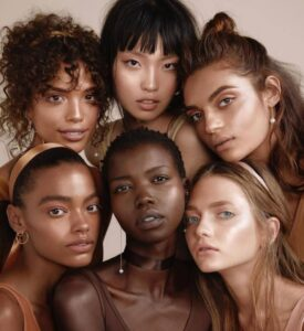 Image shows diverse models with different hairtypes
